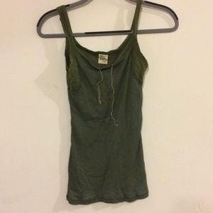 Free people green tank top